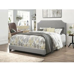 NEW FULL Gray Upholstered Bed for Sale in San Diego, CA
