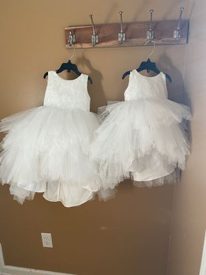 Little girl tulle dresses high/low for Sale in Waterford Township, MI