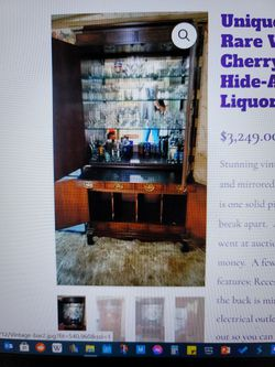 Rare Vintage Cherry Wood Hide-A-bar Liquor Hutch for Sale in Snohomish,  WA