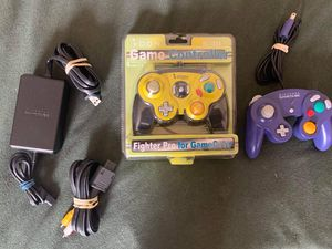 Game cube controllers and game cube charger,audio video cable for Sale in Long Beach, CA