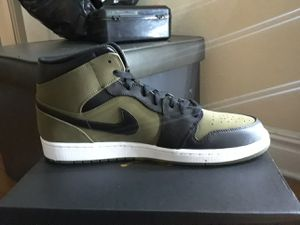Nike Air Jordan 1 Mid Olive/Black Canvas Sizes 11,12,13 for Sale in Dallas, TX