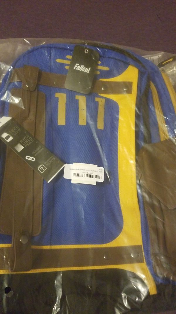 Brand new fallout vault tec laptop backpack