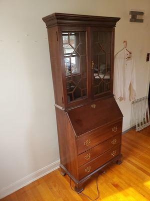 Antique jasper secretary cabinet for Sale in Morton Grove, IL