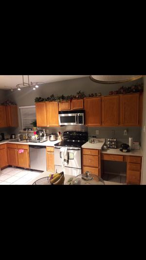 Kitchen cabinets top and bottom with counter tops for Sale in Cedar Hill, TX