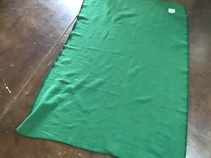 Green throw blanket with logo for Sale in Litchfield Park, AZ