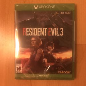 Resident Evil 3 Remake Unopened Xbox One for Sale in Tempe, AZ