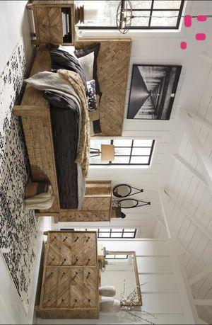Grindleburg Light Brown Platform Bedroom Set | B754 Queen and King size bed frame Dresser Mirror Nightstand for Sale in Houston, TX