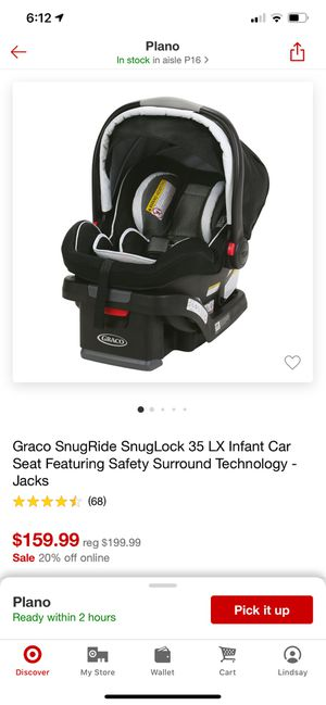 Gracie snuglock 35LX infant car seat for Sale in Plano, TX