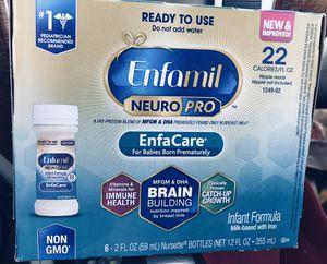 5 boxes Enfamil NeuroPro EnfaCare 6 2fl oz Nursette bottles & Pampers Swaddlers Newborn Diapers for Sale in Santa Clarita, CA