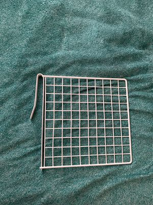 White Metal Shelf Divider - Crosshatch for Sale in Ithaca, NY