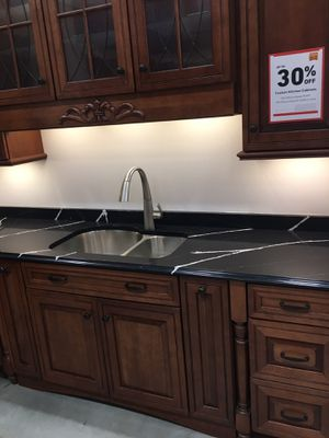 Kitchen cabinets with countertop / sink and faucet for Sale in Arlington, MA
