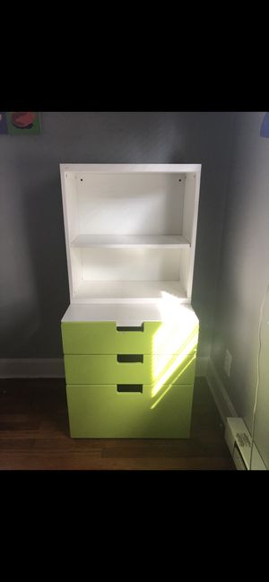 Three drawer storage with attached shelving for Sale in Fall River, MA