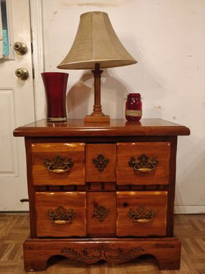 "Nice solid wood night stand with big drawers in very good condition, all drawers sliding smoothly. L27""*W16""*H25"" for Sale in Annandale, VA"