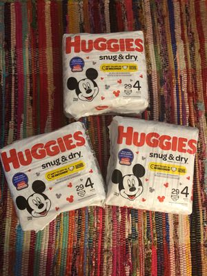 **NEW UNOPENED** 3 Huggies Size 4 Diapers for Sale in McDonough, GA