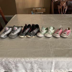 $50 - 2 Jordan & 2 Converse for Sale in Mesquite, TX