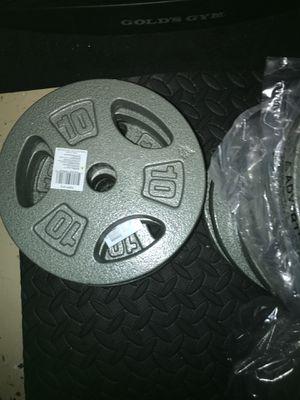 Standard 10 pound weight plates for Sale in Orlando, FL