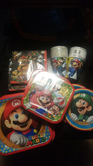 Birthday party bundle SUPER MARIO for Sale in Southgate, MI