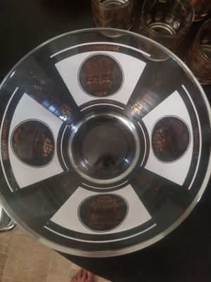 MID CENTURY GLASS DEEP GLASS DISH for Sale in San Diego, CA