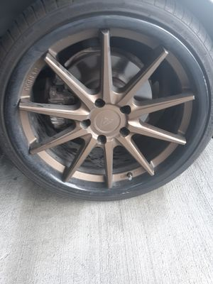 "19"" Ferrada Wheels FR2 Matte Bronze with Gloss Black Lip Rims for Sale in Bueche, LA"