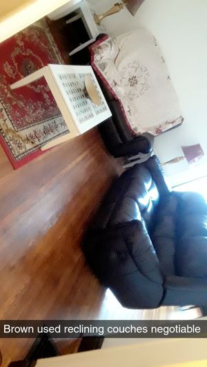 Leather Reclining Couches ( used and negotiable ) please dm for more info for Sale in Buffalo, NY