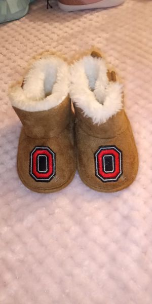 Ohio State Ugg style baby fur boots for Sale in Dayton, OH