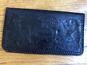 Vintage leather handmade embossed billfold for Sale in Warren Air Force Base, WY