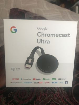Google chromecast ultra for Sale in Washington, DC
