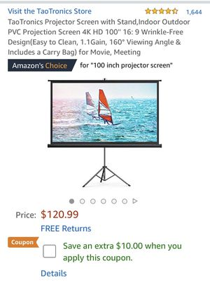 Projector screen with stand for Sale in Beaverton, OR