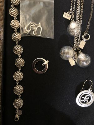 Wholesale jewelry lot .925 or pewter. Needs some polishing, some pendants included for Sale in Greenville, SC