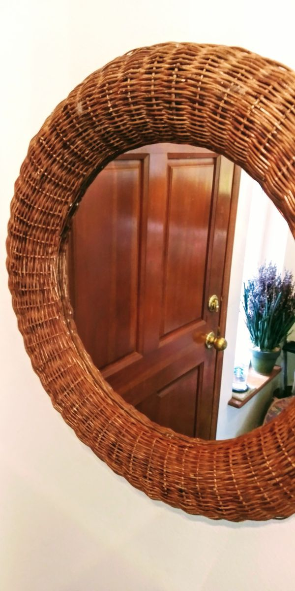 Mirror s $5&up + Rustic Nautical Beach Bentwood Bamboo Rattan Wicker Chair, Decor, RARE Dropleaf Tavern Pub Table w/ Dovetail Drawer & 4 Chairs READ⬇️