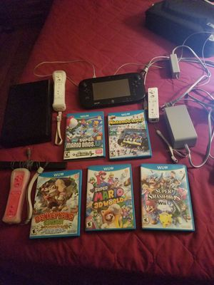 Nintendo Wii U with 9 games for Sale in Laurel, MD