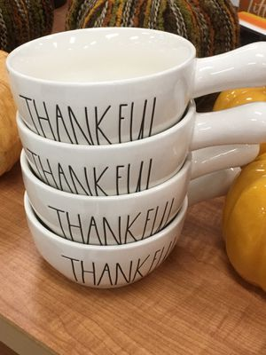 Rae dunn 4 Thankful Handle Bowls for Sale in Duluth, GA