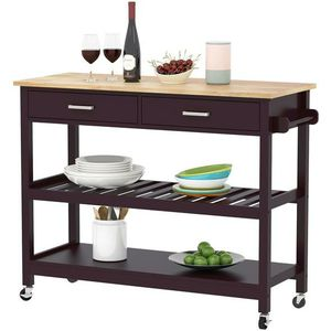 Kitchen Island Trolley Cart with Rack and Shelves for Sale in Anaheim, CA
