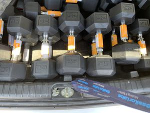 Brand new rubber hex dumbbells for Sale in Carrollton, TX