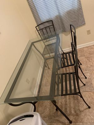 Glass wrought iron table for Sale in Ruston, LA