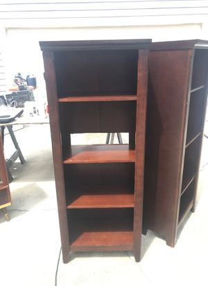 1 pair of all wood bookshelves for Sale in Tampa, FL