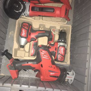 Milwaukee Grinder, multitool, drill, impact, and One hand it'sallsaw for Sale in Pennsauken Township, NJ