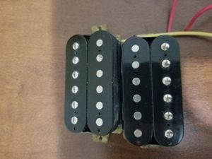 Stock guitar pickups with knobs/input for Sale in New Caney, TX