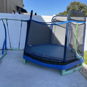 My 1st Trampoline With Swing Set for Sale in Wimauma, FL