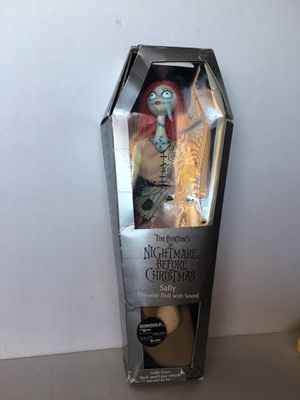 Tim Burton Nightmare Before Christmas Sally Poseable Doll with Sound Collectible- New never opened/ see box for Sale in Los Angeles, CA