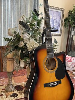 sunburst fever electric acoustic guitar with metal strings for Sale in South Gate,  CA