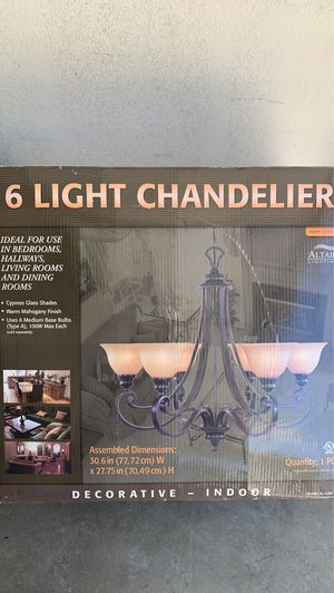 6 light chandelier for Sale in Chula Vista, CA