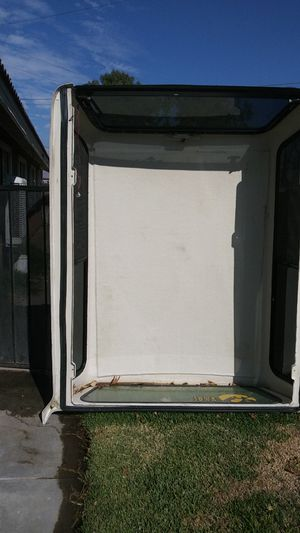 Camper shell for the pickup truck 81 by 61 for Sale in Hemet, CA
