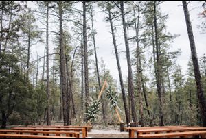 10 foot high Wedding Arch and 7, 8 foot wood benches for Sale in Overgaard, AZ