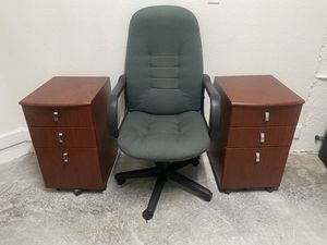 Combo: 2 Portable File Cabinets + 1 Chair for Sale in Hialeah, FL