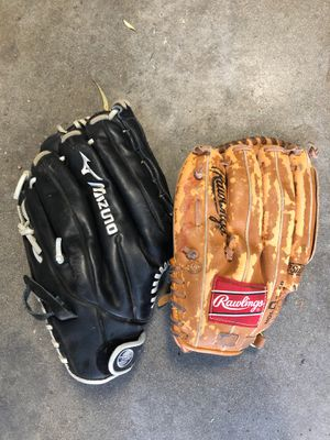 Men's and youth baseball / softball gloves for Sale in Los Angeles, CA