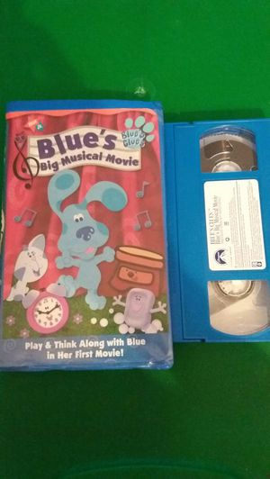 Nick Jr's BLUE'S CLUES Big Musical Movie (VHS) for Sale in Lewisville, TX