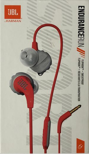 JBL Endurance RUN - Wired Sport In-Ear Headphones - Red for Sale in Alexandria, VA