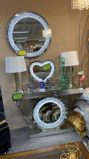 Amazing LED Light Up Mirrors and Console Tables EV2K23 for Sale in Irving, TX