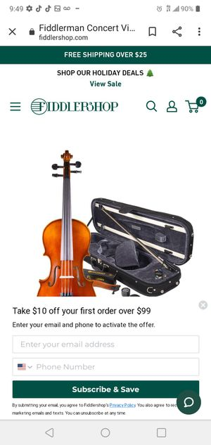 Like new mint condition violin with case for Sale in Tampa, FL